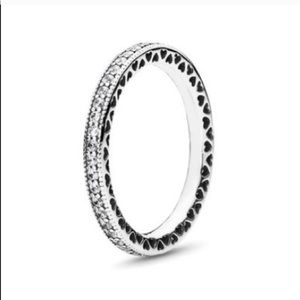 Sterling Pandora stackable ring size 58(8.5)